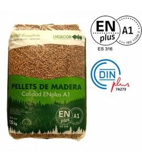 Pellet Certificado ENplus A1 INGECOR 15kg