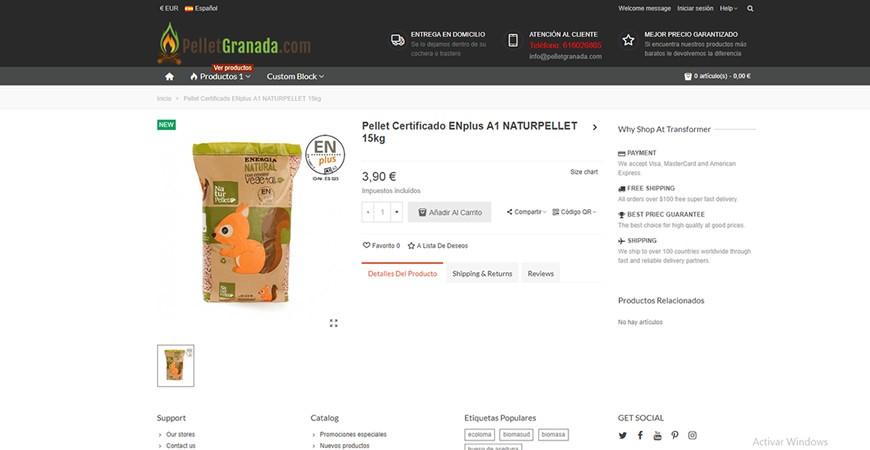 Bienvenidos a la nueva web de PelletGranada.com